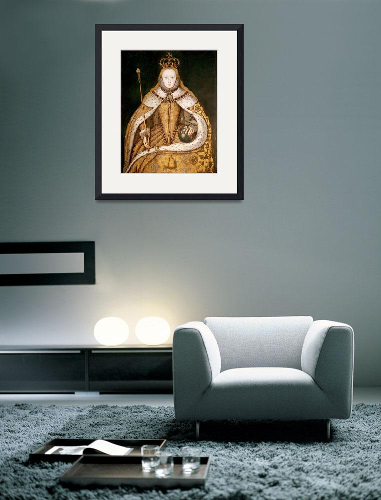 """""""Queen Elizabeth I in Coronation Robes, c.1559-1600&quot  by fineartmasters"""