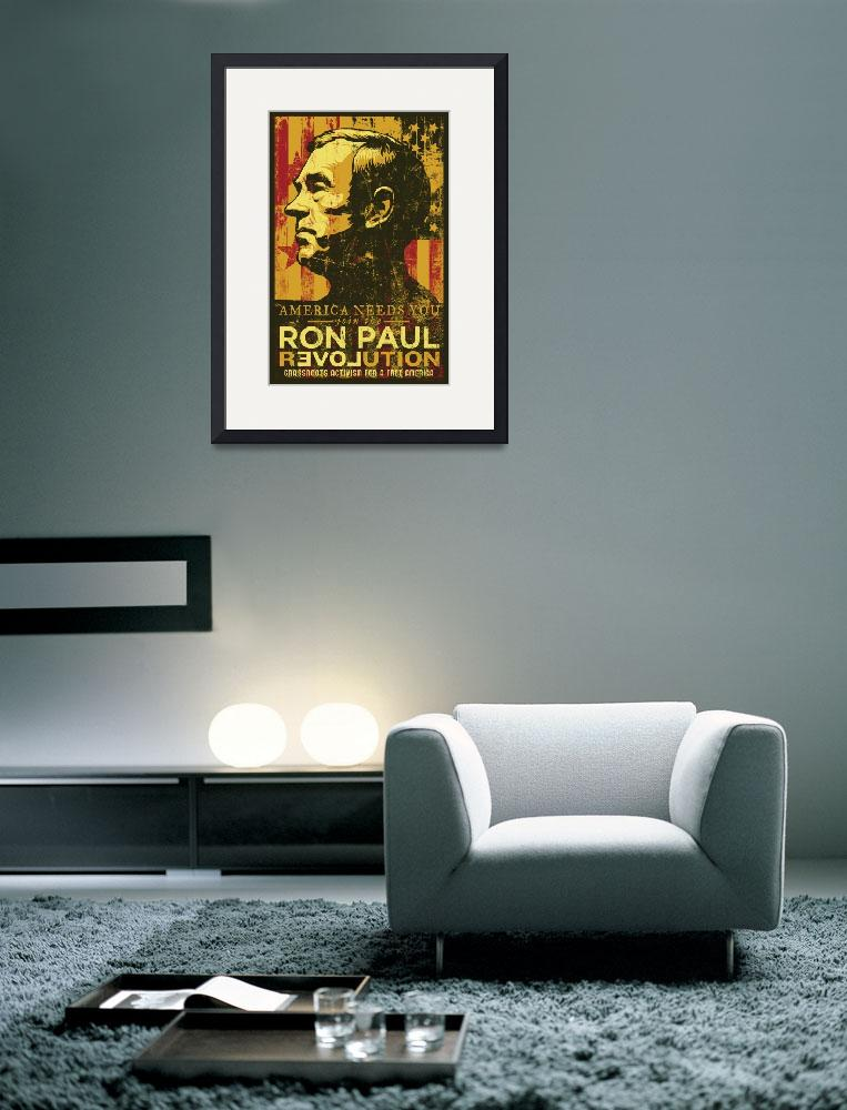 """Ron Paul Distressed Poster 2009&quot  (2009) by libertymaniacs"