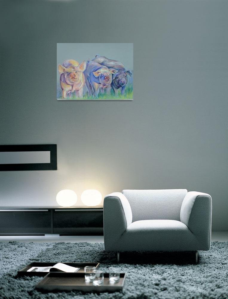 """""""Pigs in Pastels""""  (2008) by suesteiner"""