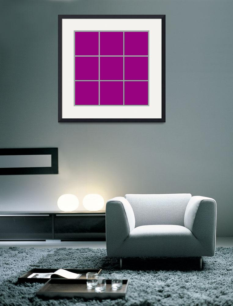 """""""Violet Window 187 Canvas Contemporary Modern&quot  (2010) by Ricardos"""