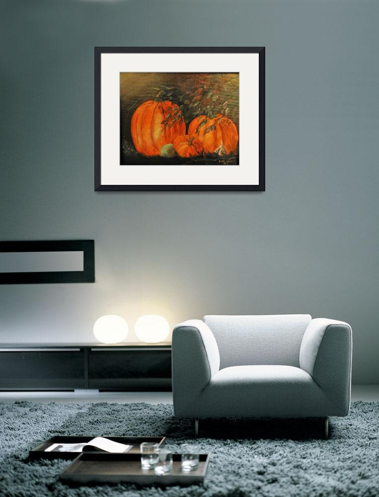 """Three Pumpkins With Garlic&quot  (2009) by kiphayes"