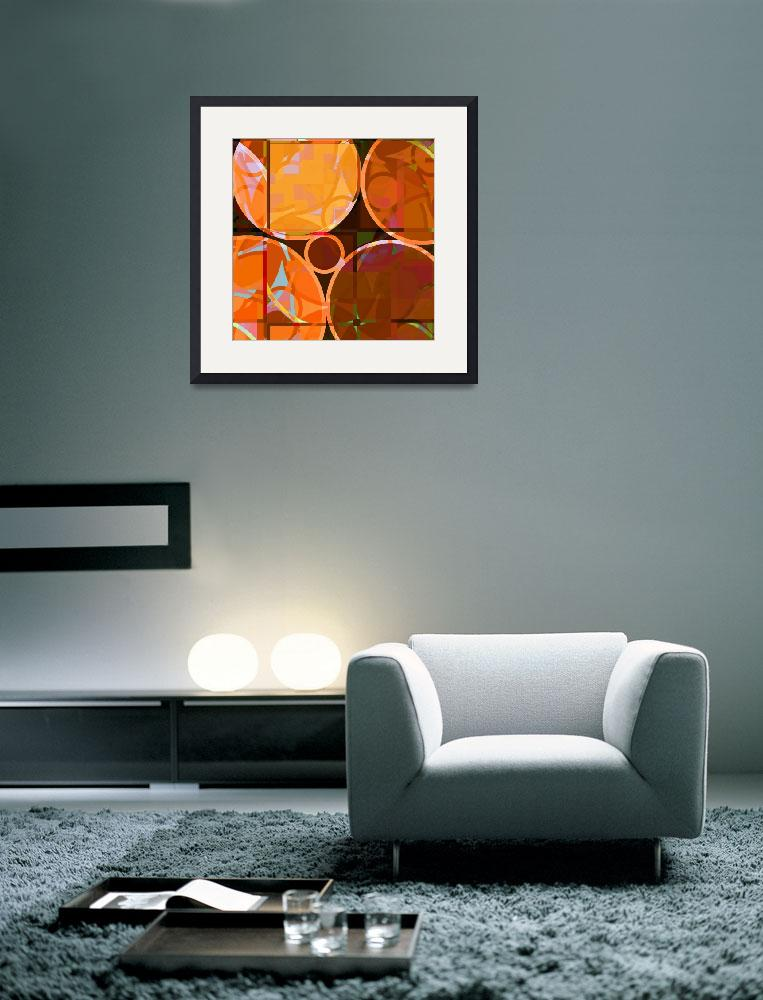 """""""Linked Circles (Orange Hues)&quot  (2008) by piecesofrob"""