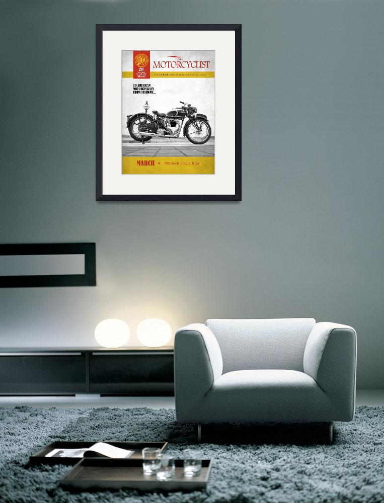 """Motorcycle Magazine Triumph Speed Twin 1939&quot  (2011) by mark-rogan"