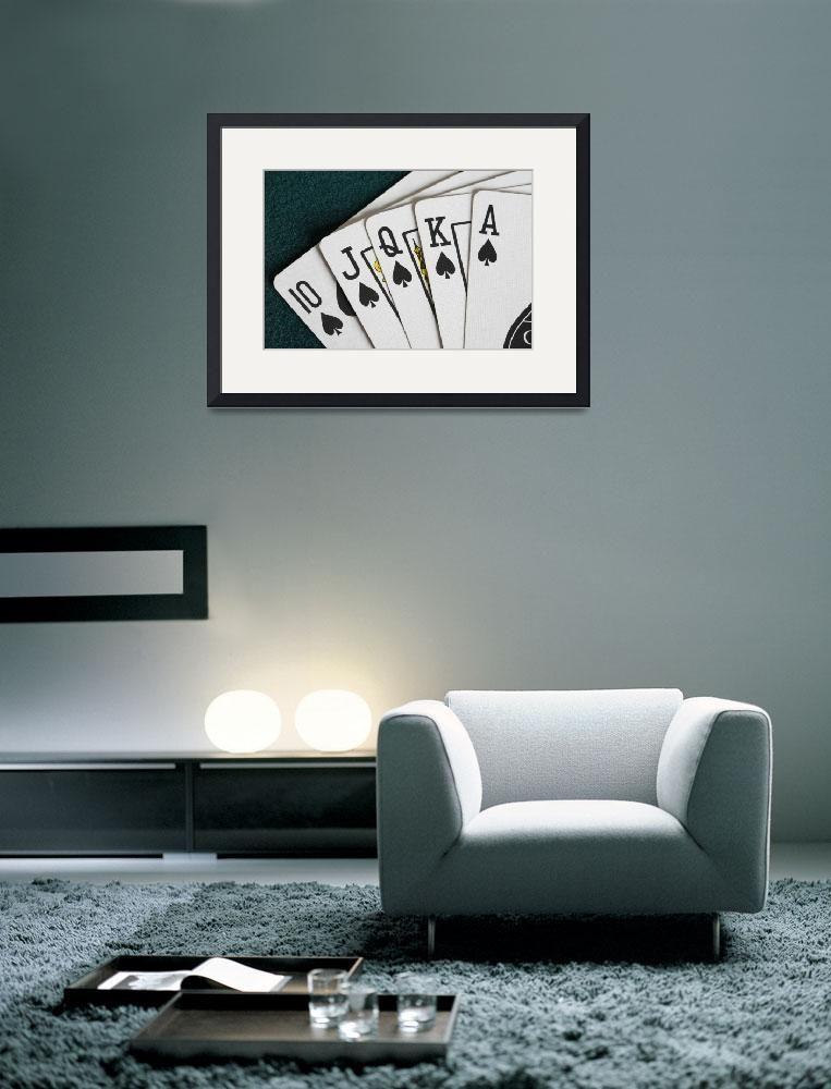 """""""Close-Up Of Blackjack Playing Cards Showing Spades&quot  by DesignPics"""