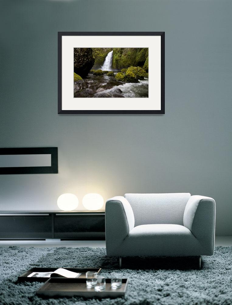 """""""Wahclella Falls in Autumn""""  (2011) by stillwildphotography"""