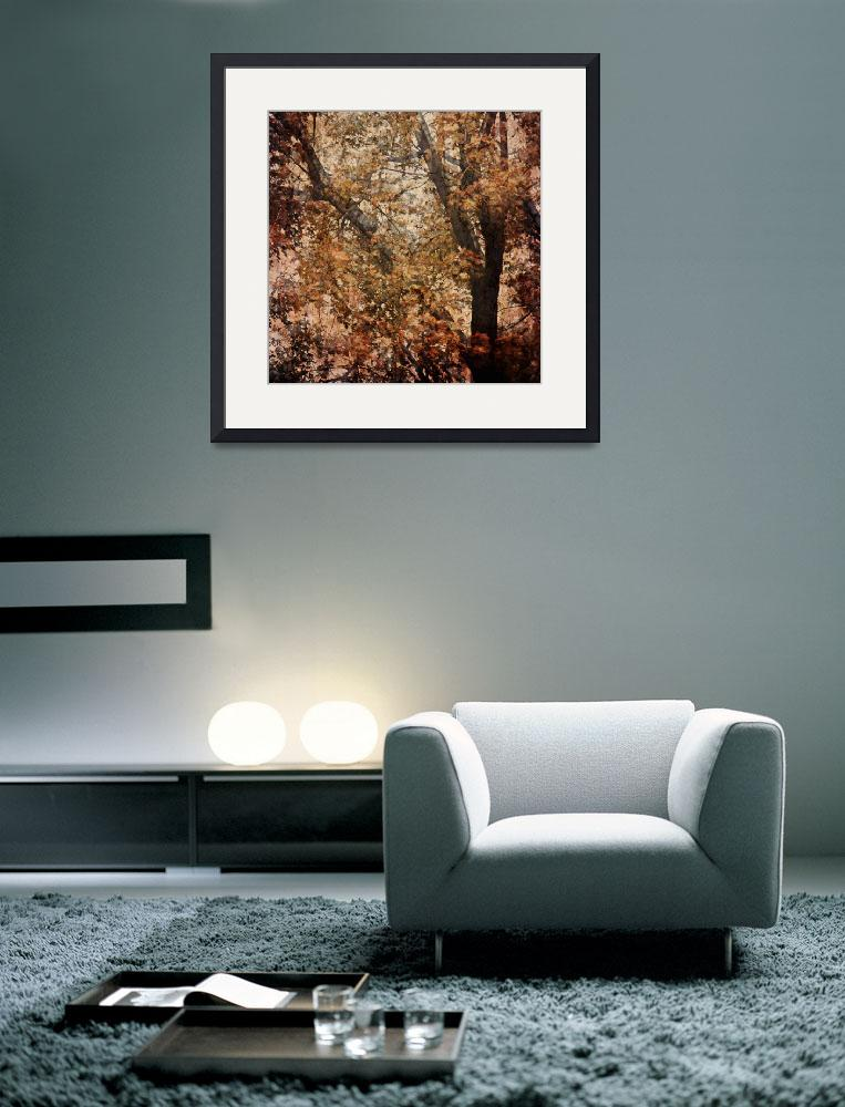 """""""Autumn Tree Abstract&quot  by sweetblue"""