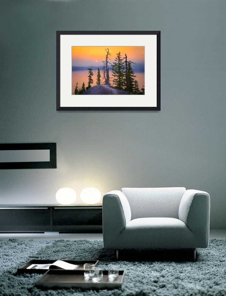 """""""Misty Crater Lake&quot  (2008) by Inge-Johnsson"""