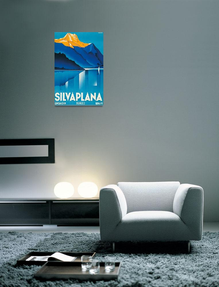 """""""Silvaplana Vintage Travel Poster&quot  by FineArtClassics"""