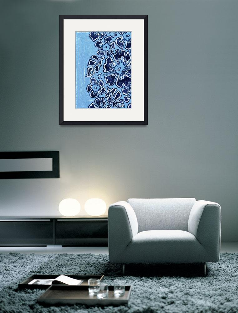 """""""Blue flowers&quot  (2008) by frostiki"""