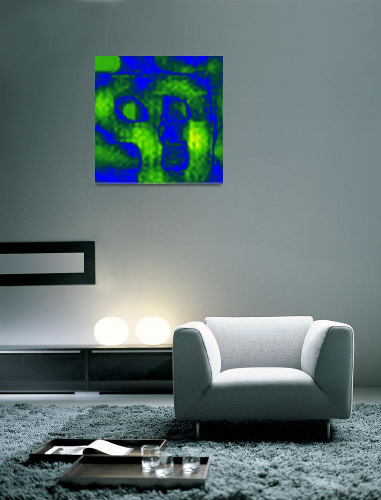 """""""BLUE AND CHARTREUSE""""  (2014) by esto"""