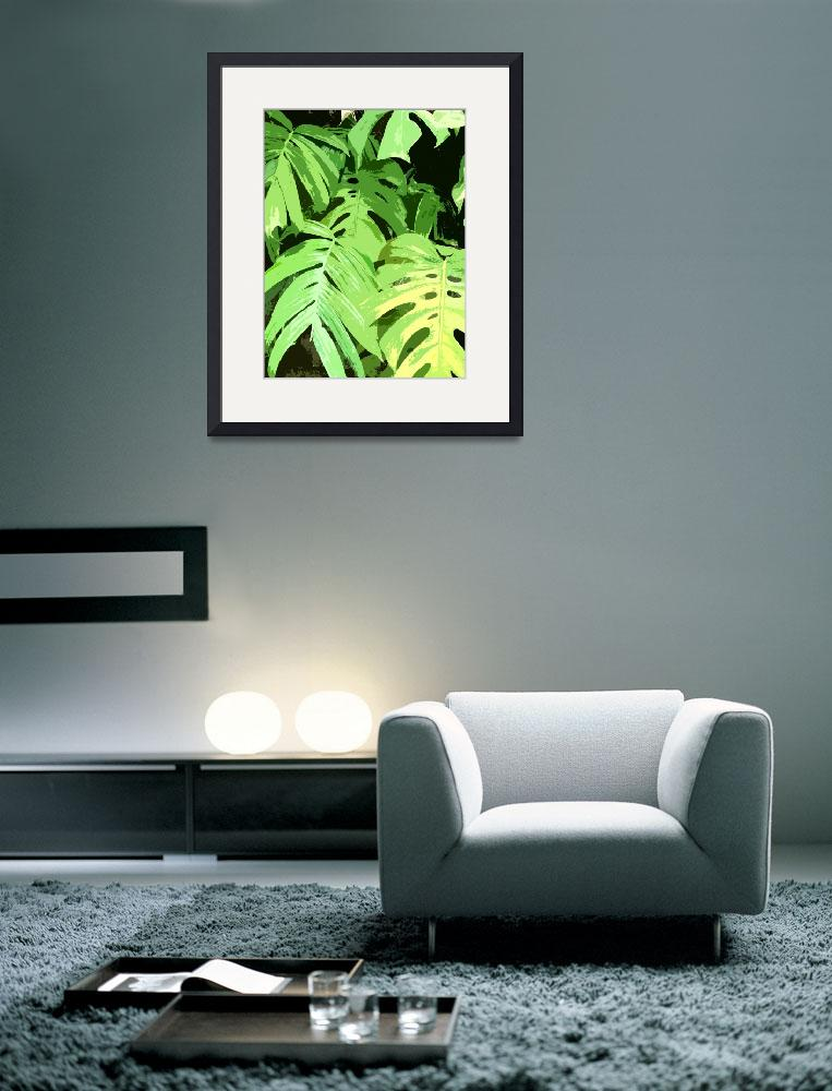 """""""Tropical Leaves&quot  (2011) by bbriboy"""