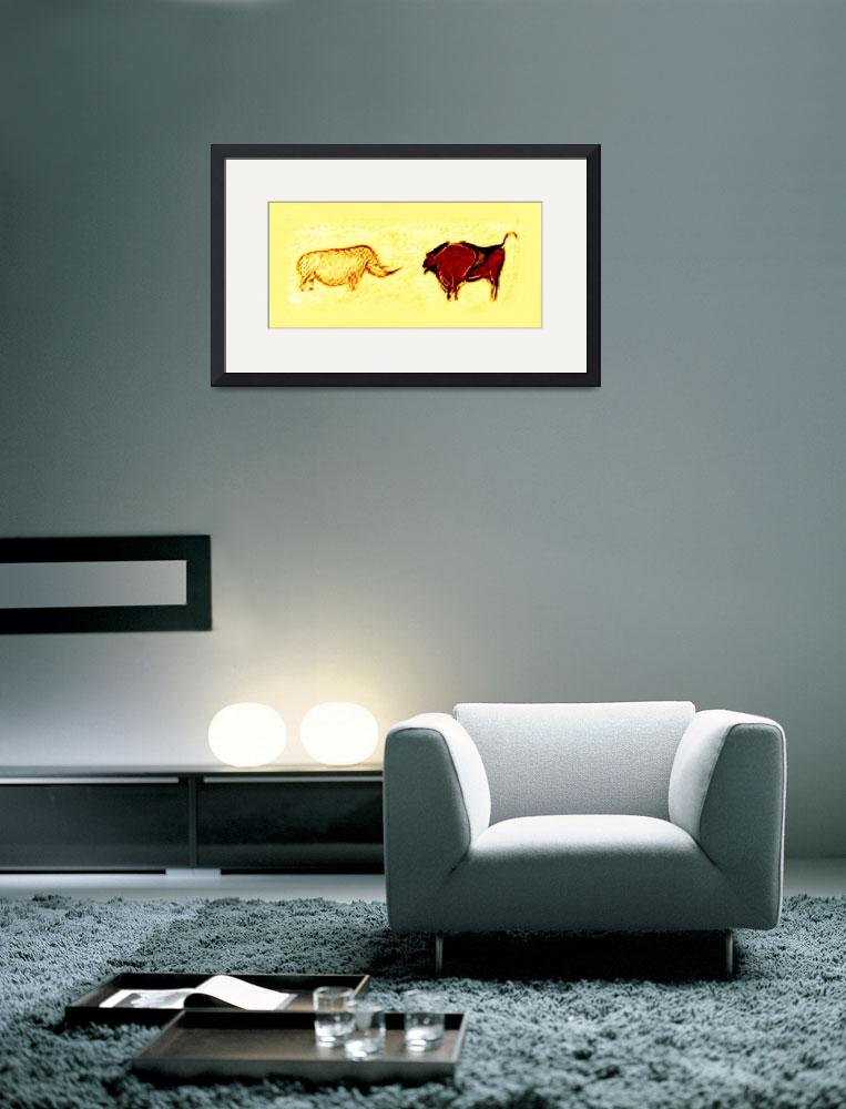 """Rhino & Bison Prehistoric Cave Art&quot  (2014) by TheNorthernTerritory"