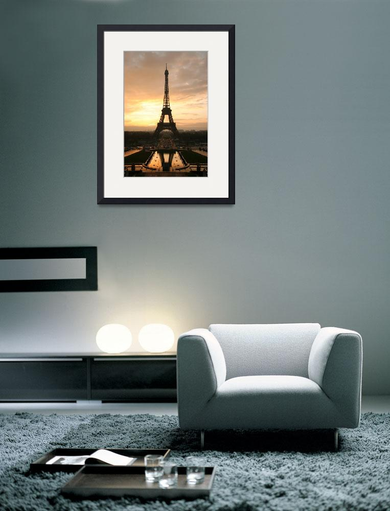 """Paris Eiffel Tower at sunrise from the Trocadero""  by VintageArtPosters"