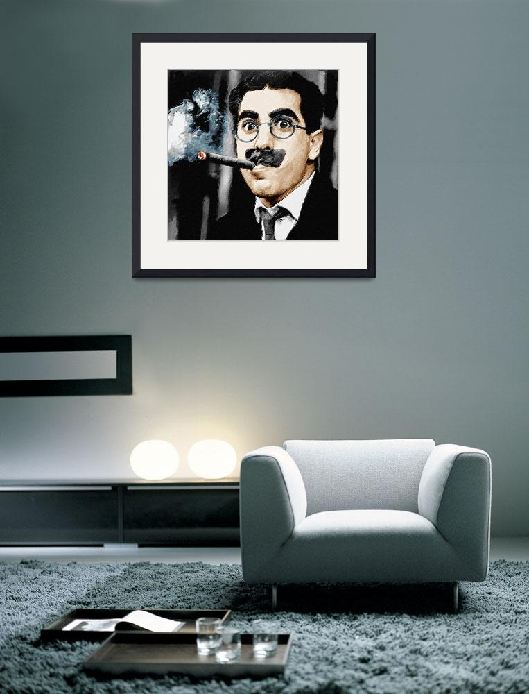 """""""Groucho Marx Square""""  by RubinoFineArt"""
