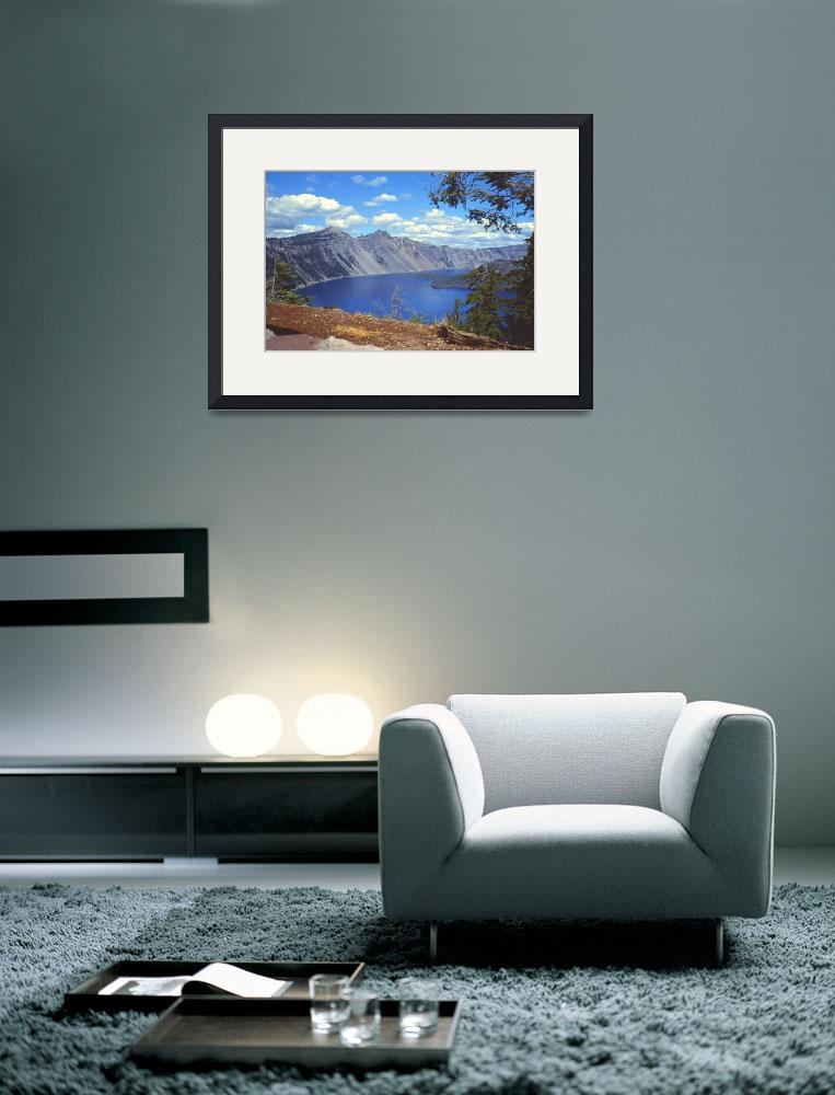 """""""Clouds over Crater Lake 1979&quot  (1979) by PriscillaTurner"""