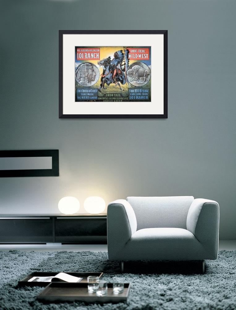 """Wild West Show Vintage Poster ft Chief Iron Tail&quot  by fineartmasters"