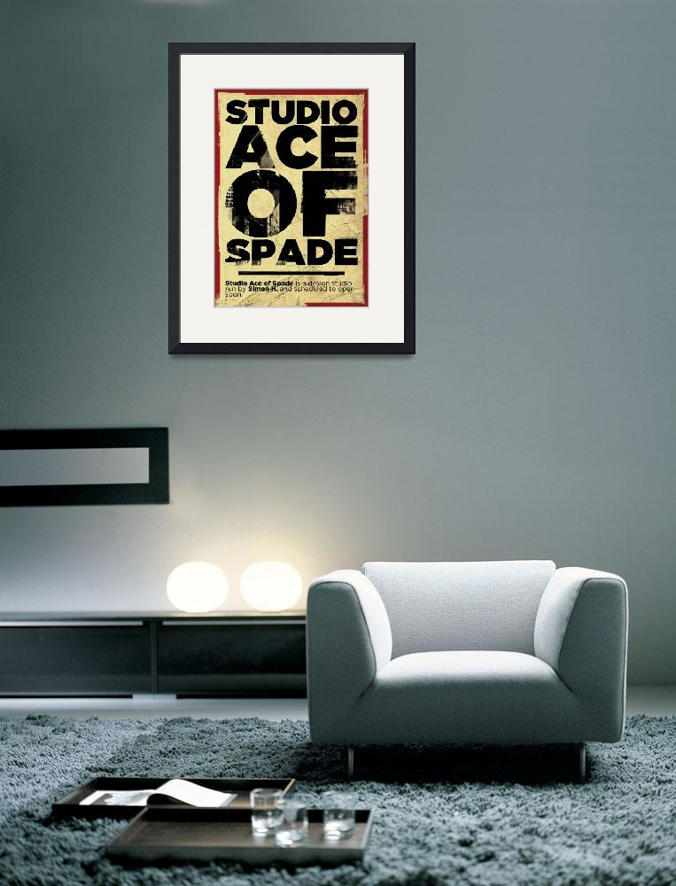 """""""Studio Ace of Spade - Monthly poster series 03.10&quot  (2010) by simonh4"""
