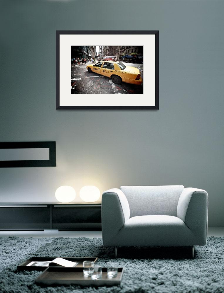 """NYC Taxi on Fifth Avenue, New York City, USA&quot  (2010) by tysonwilliams"