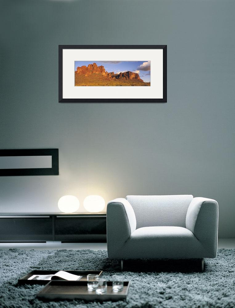 """""""Sunset Superstition Mountains Tonto National Fore&quot  by Panoramic_Images"""