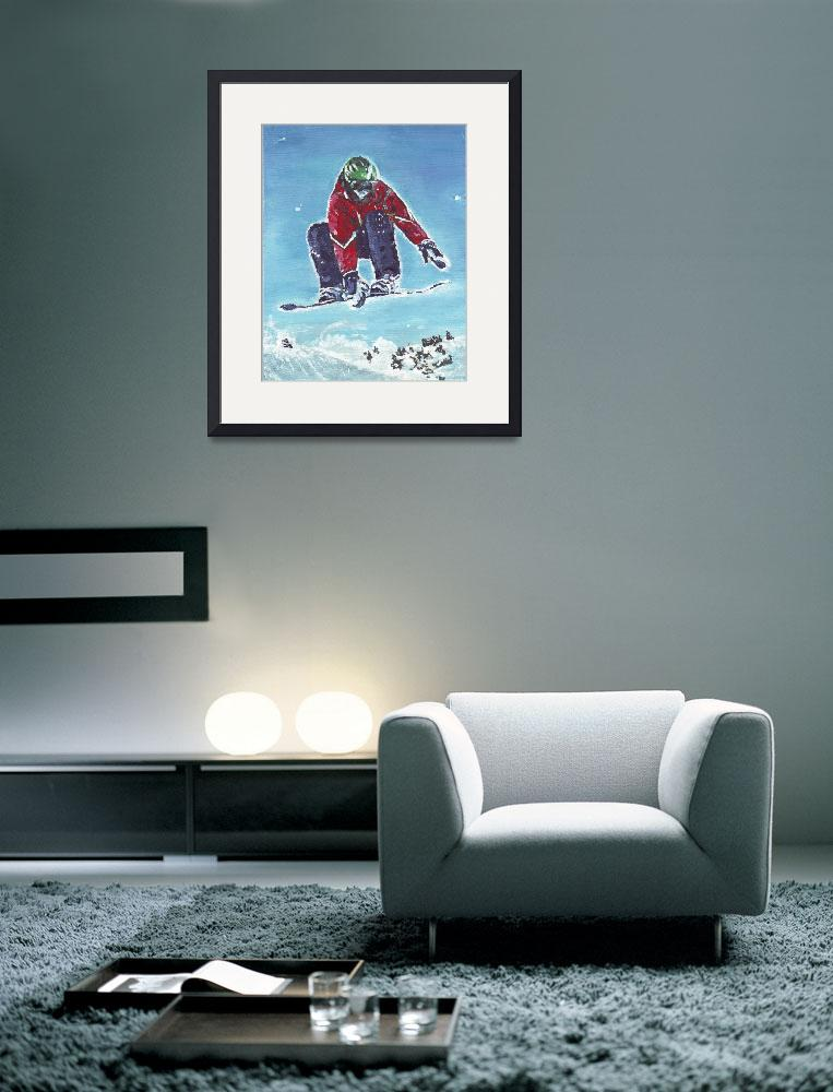 """""""SNOWBOARDER&quot  (2006) by RuthDriedger"""