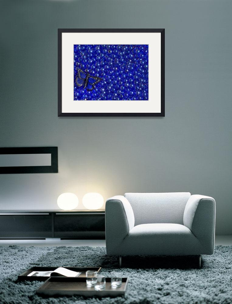 """Blue marbles and butterfly&quot  (2010) by annav"