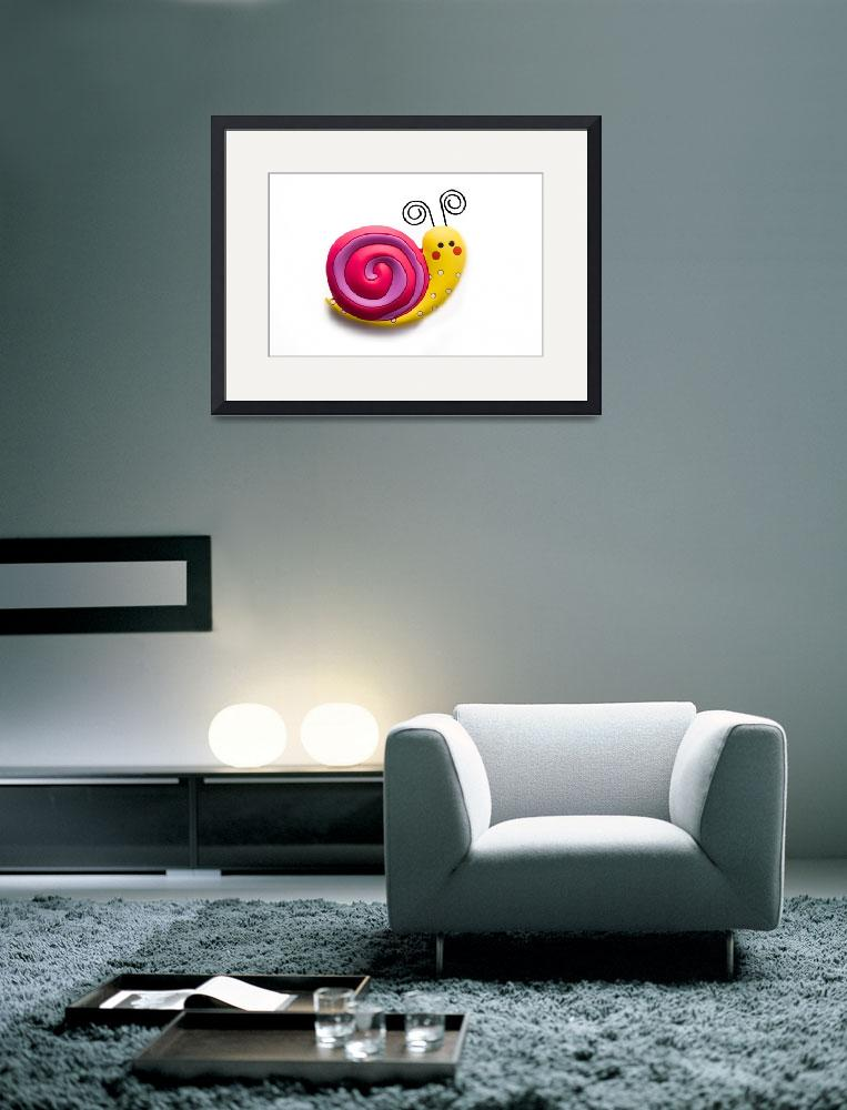 """""""Bright and funny toy snail&quot  (2011) by Kybdica"""