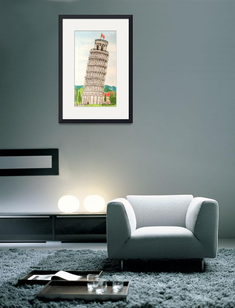 """""""The Leaning Tower of Pisa""""  (2010) by BarbaraPelizzoli"""