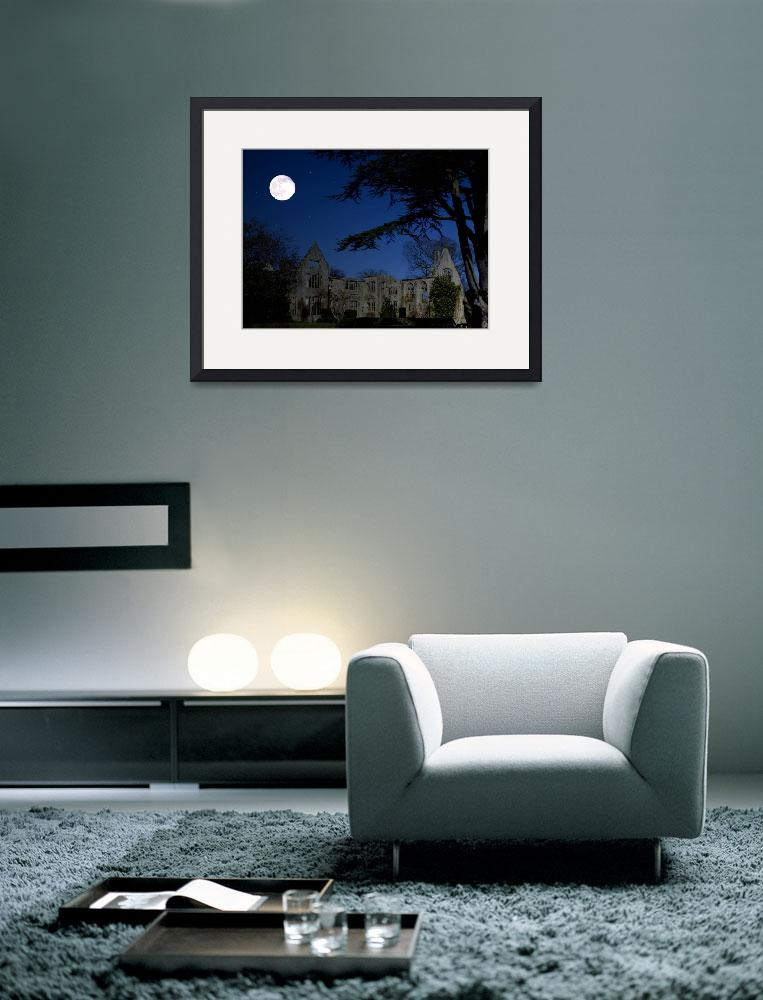 """""""Mansion Ruins by Moonlight&quot  (2010) by Paul_Rumsey"""