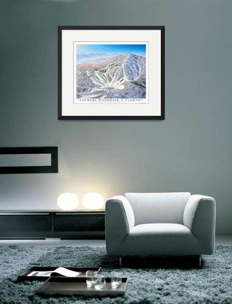"""""""Bromley Mountain&quot  (2007) by jamesniehuesmaps"""