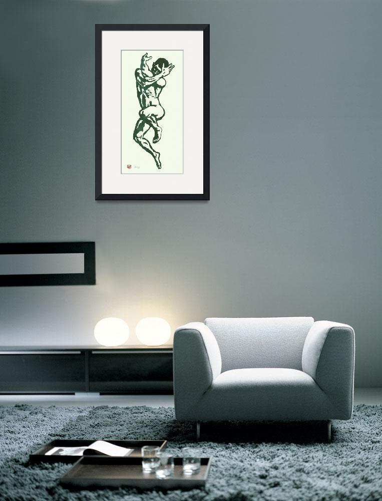 """""""gay etching style nude pop art  poster&quot  (2014) by visualharbour"""