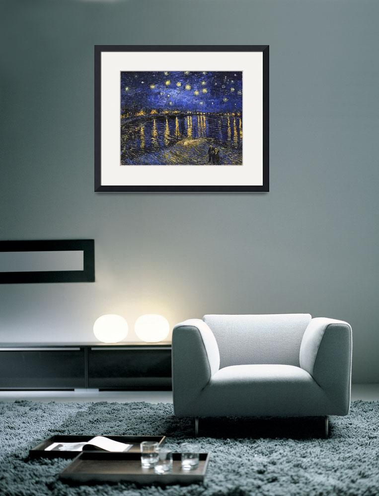 """""""Vincent Van Gogh Starry Night Over The Rhone""""  by masterpiecesofart"""