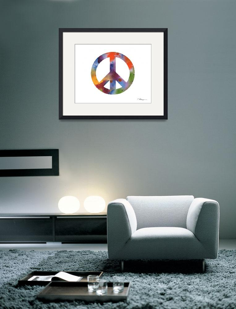 """""""Peace Sign&quot  (2015) by k9artgallery"""