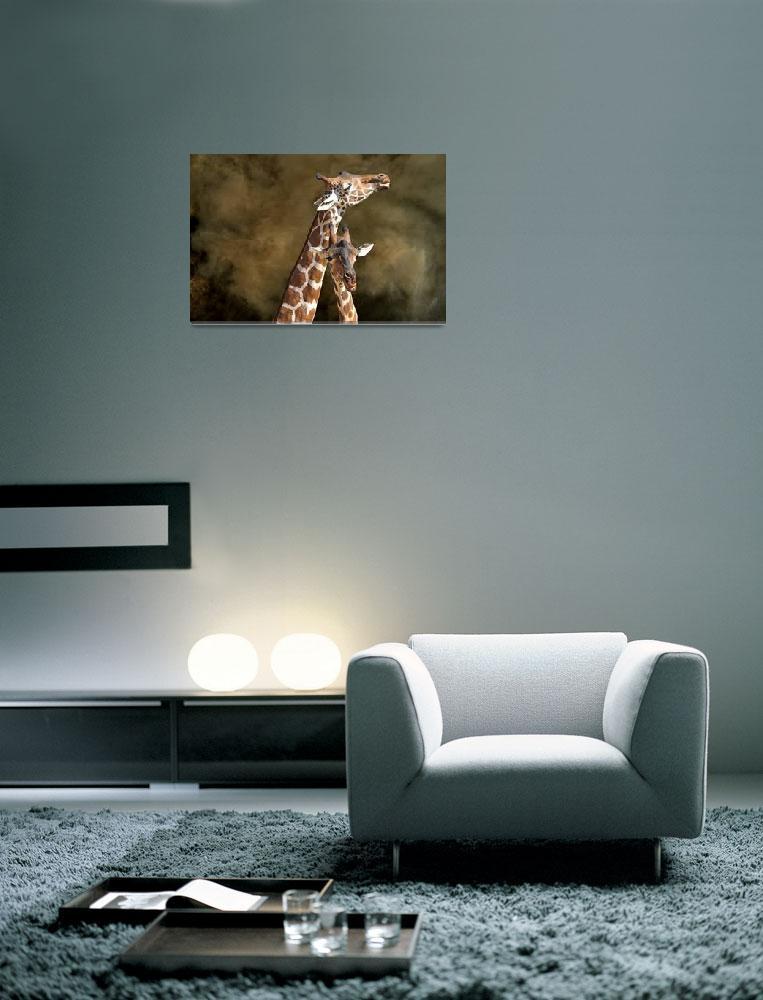 """Giraffe Pair""  (2012) by NaturesSol"