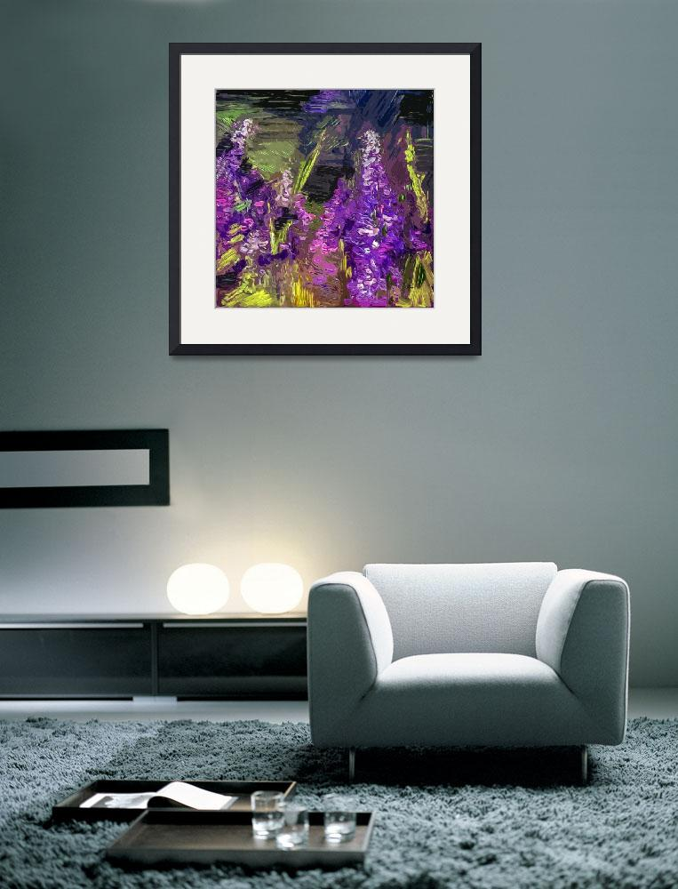 """""""Abstract Lupines Flower Art by Ginette""""  (2012) by GinetteCallaway"""