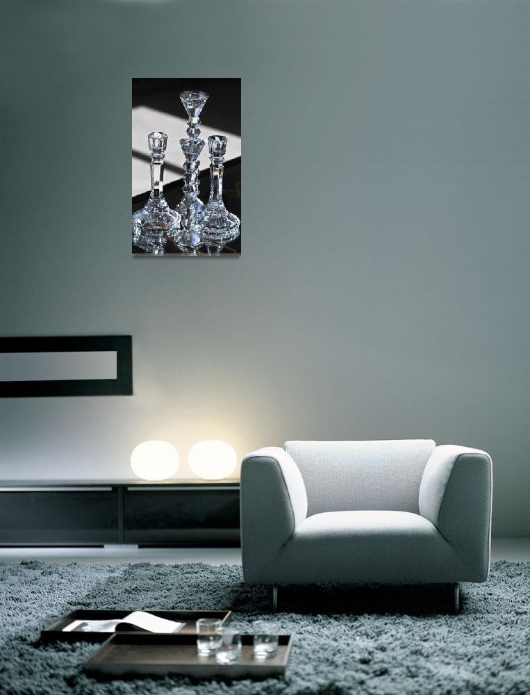 """""""Glass Candles on Table -#2&quot  (2011) by mjphoto-graphics"""