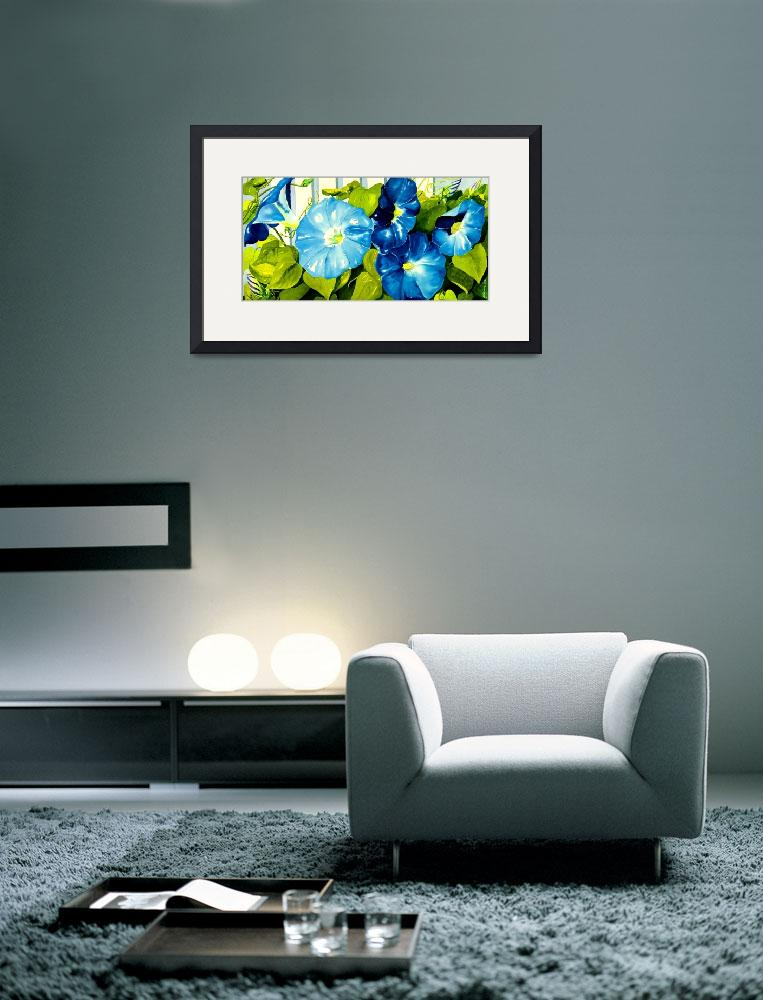"""""""Morning Glories in Blue&quot  (2009) by janlan44"""