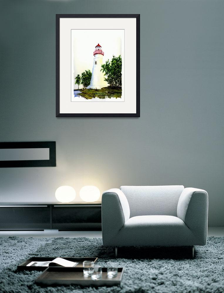 """""""Marblehead Lighthouse&quot  (2007) by vigliotti"""