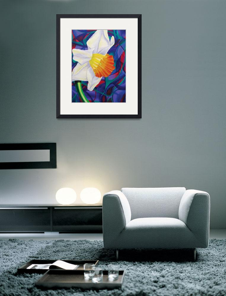 """""""White Daffodil&quot  (2006) by dpj"""