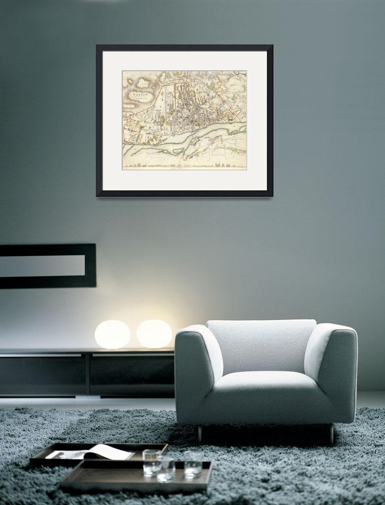 """""""Vintage Map of Warsaw Poland (1831)&quot  by Alleycatshirts"""