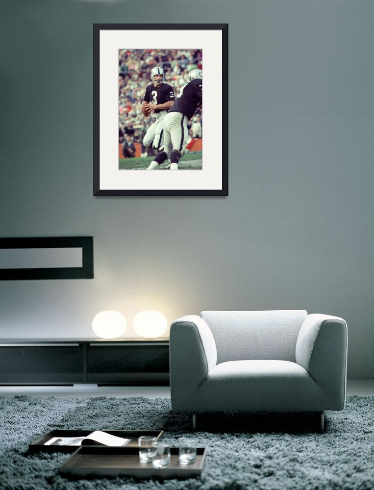 """""""Daryle Lamonica drops back to throw&quot  by RetroImagesArchive"""