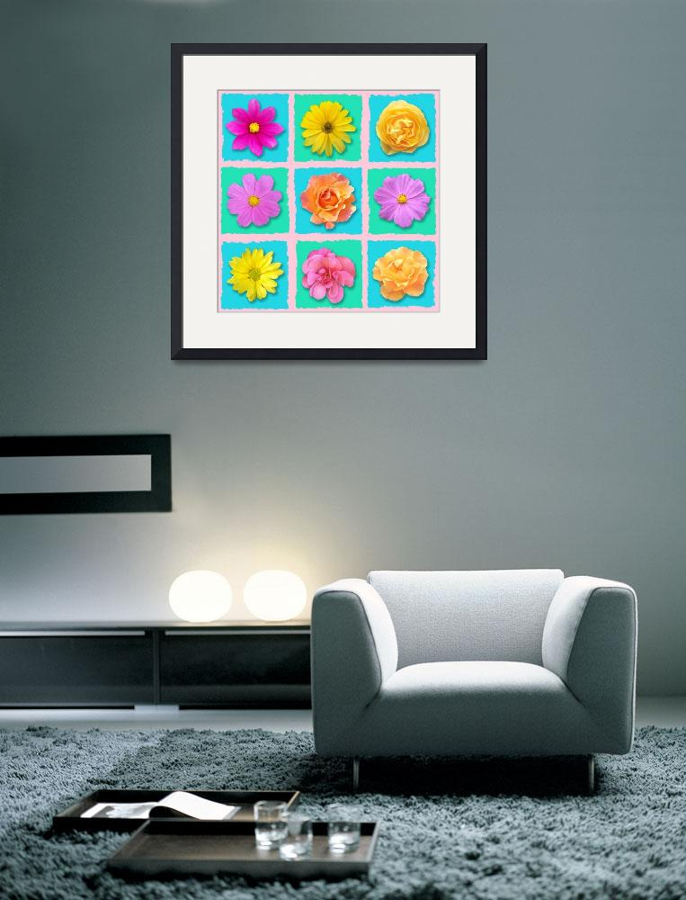 """""""Patchwork flowers""""  (2012) by Cativationart"""