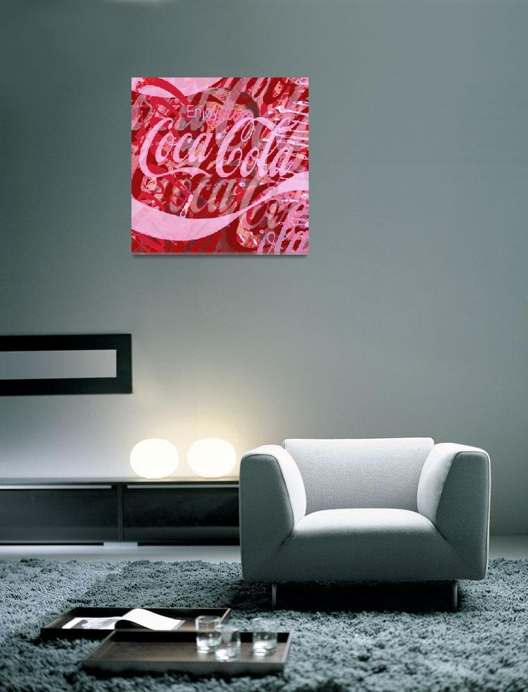 """Coca-Cola Collage""  (2013) by RubinoFineArt"