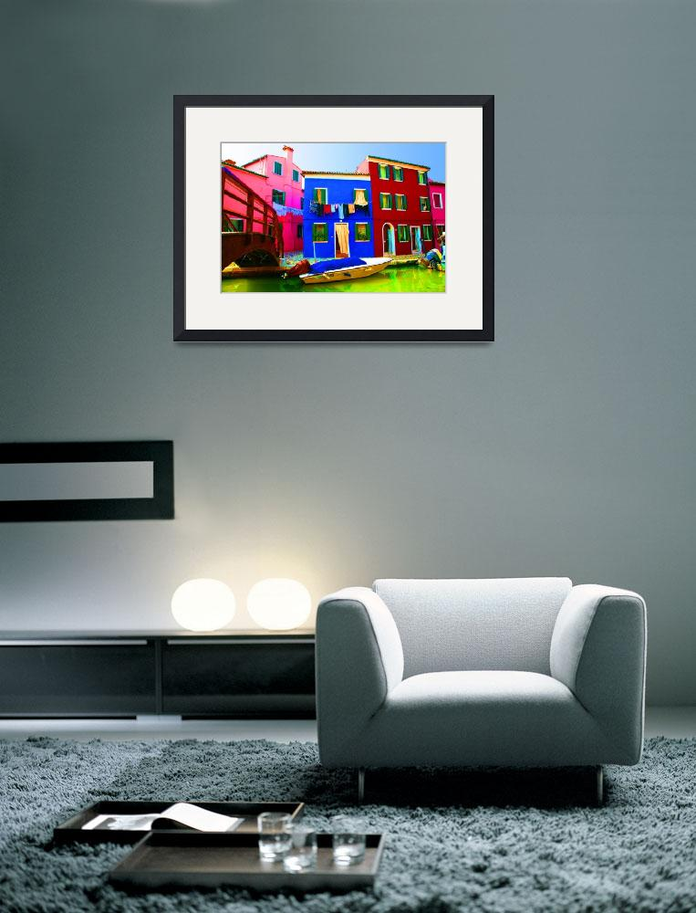 """""""Boat Matching House&quot  (2007) by DonnaCorless"""