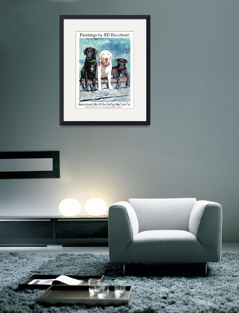 """""""Poster of Dogs - Labradors""""  (2007) by RDRiccoboni"""