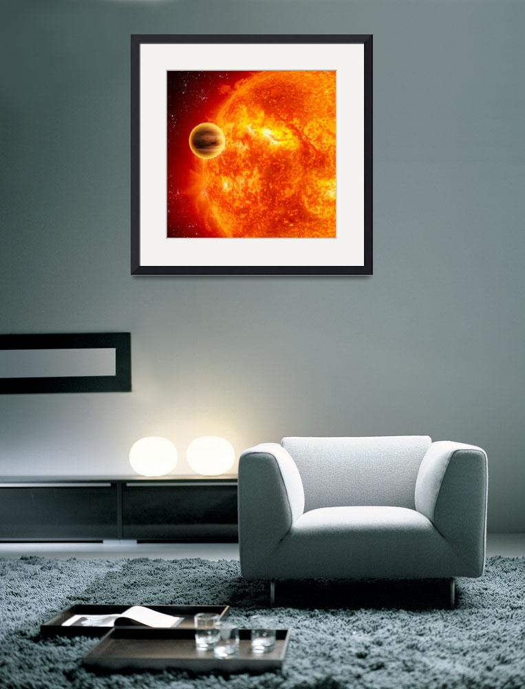"""A gasgiant exoplanet transiting across the face of&quot  by stocktrekimages"