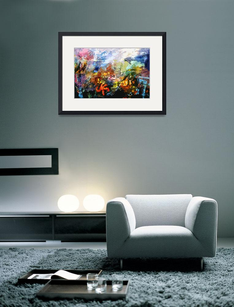 """""""Life in a Coral Reef Original Art by Ginette""""  (2012) by GinetteCallaway"""