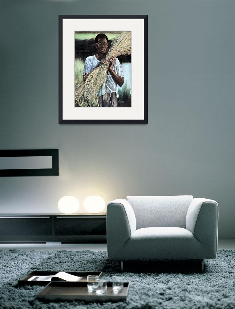 """""""Haitian Farmer&quot  (1993) by ClotheslineArt"""