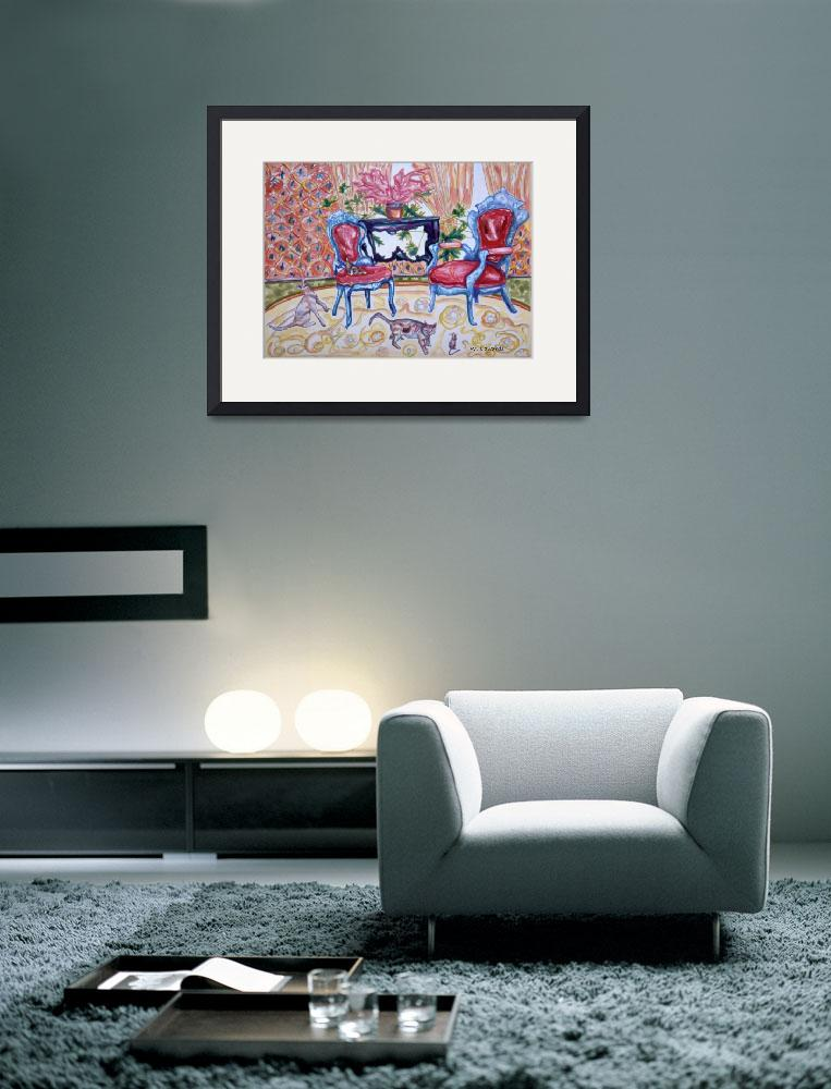 """""""Cat Art Print, Cat Watercolor Painting, Whimsy&quot  (2010) by SublimeHues"""