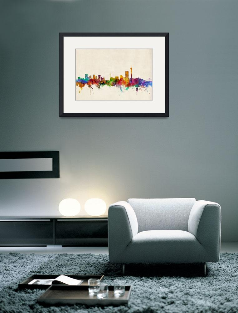 """Johannesburg South Africa Skyline""  (2013) by ModernArtPrints"
