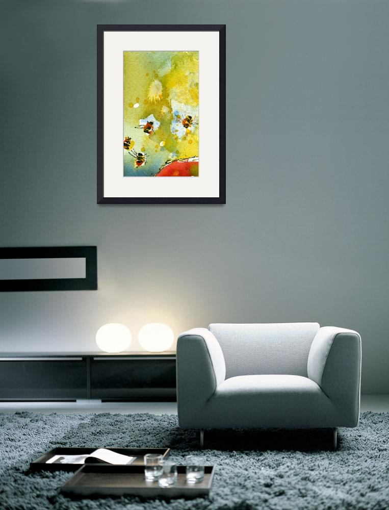 """""""Apple Abstract #3 Bees by Ginette&quot  (2011) by GinetteCallaway"""